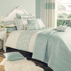 Duck Egg Evie Butterfly Bedlinen Collection