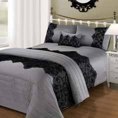 Black Rochelle Bedlinen Collection