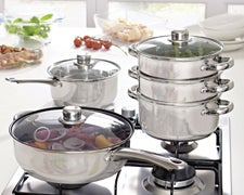 Cookshop Stainless Steel Pan Collection