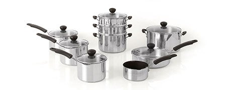 Dunelm Stainless Steel Pan Collection
