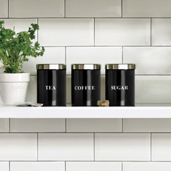 Black Spectrum Kitchen Canister Collection