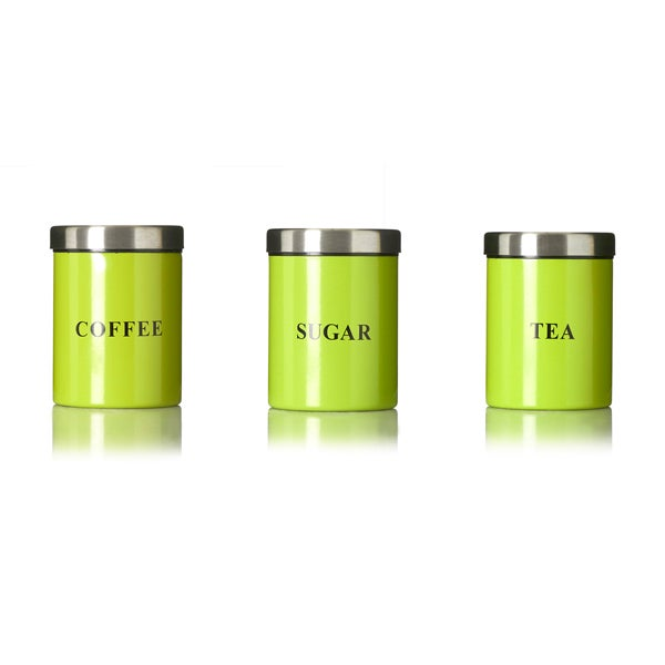 Lime Spectrum Kitchen Canister Collection