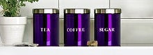Purple Spectrum Kitchen Canister Collection