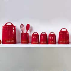 Red Country Kitchen Canister Collection