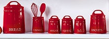 Red Country Spots Kitchen Canister Collection