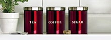 Red Spectrum Kitchen Canister Collection