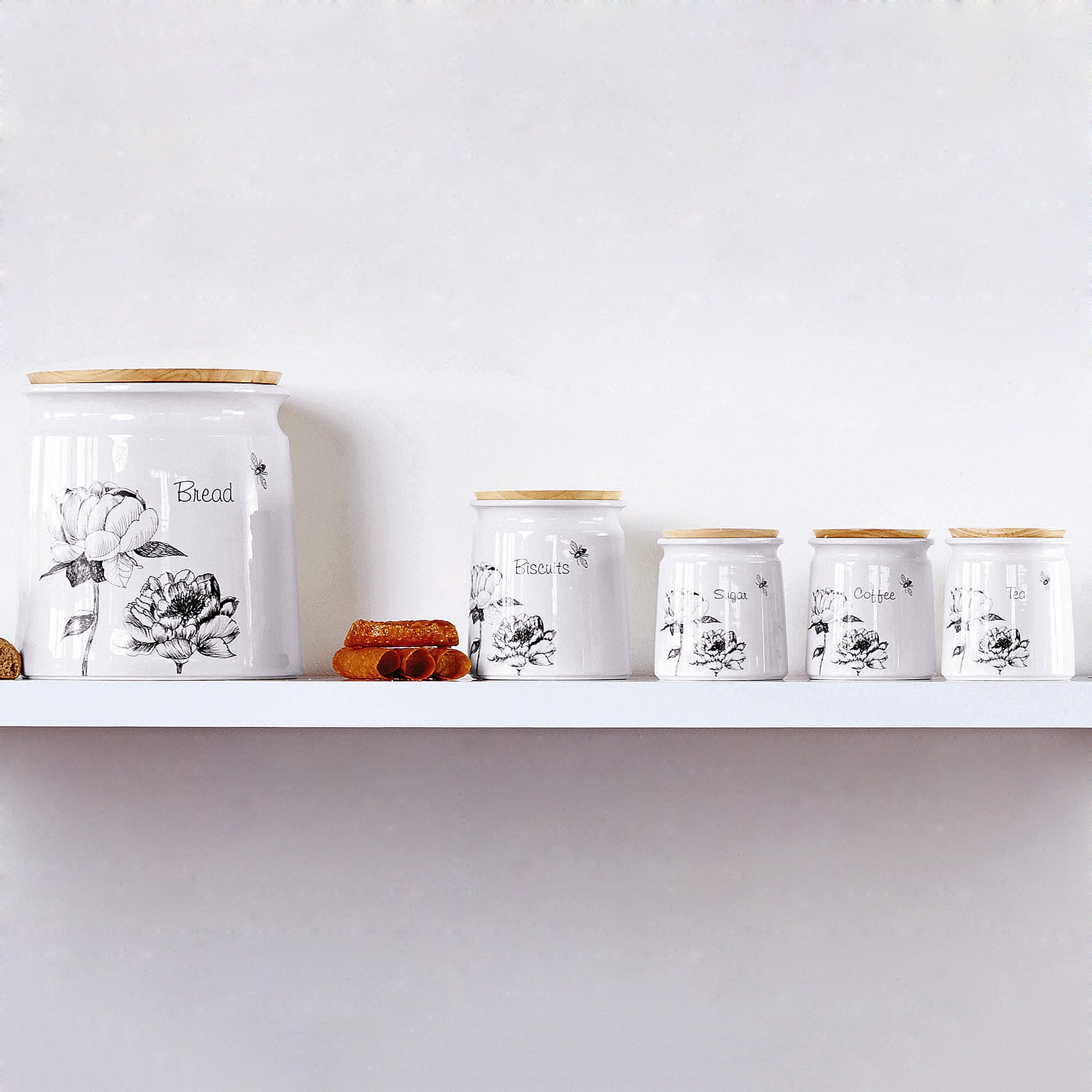 Traditional Rose Kitchen Canister Collection
