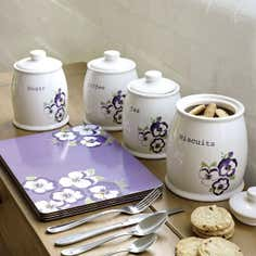 Pansy Kitchen Canister Collection