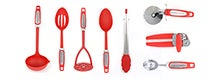 Red Spectrum Utensils Collection