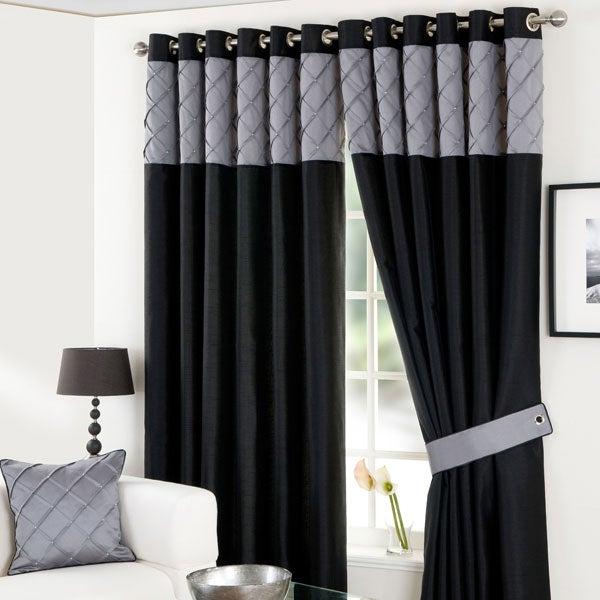 Black Parisian Eyelet Curtain Collection