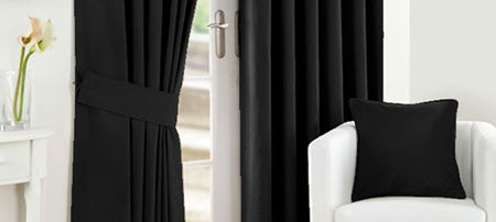 Black Twill Curtain Collection