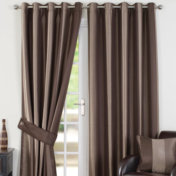 Chocolate Monaco Curtain Collection