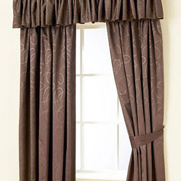 Chocolate Toledo Curtain Collection