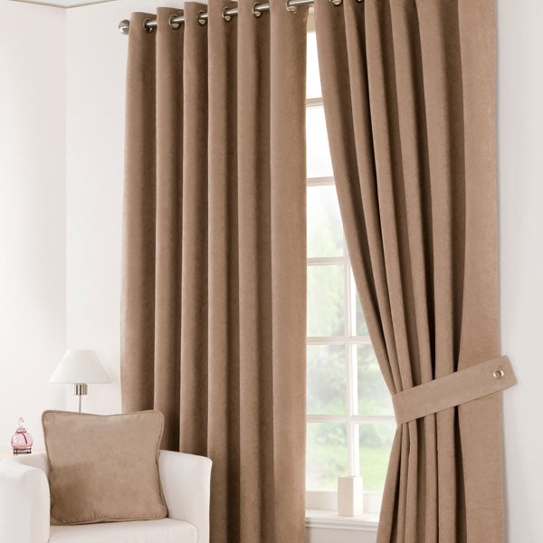 Latte Suede Blackout Curtain Collection