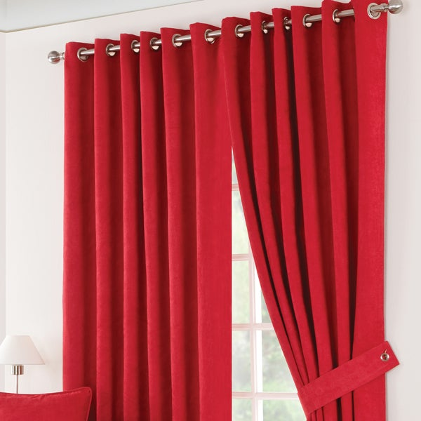 Red Suede Blackout Curtain Collection