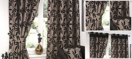 Black Delamere Curtain Collection