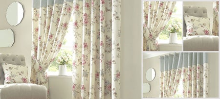 Blue Elstead Curtain Collection