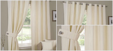 Cream Ruffle Curtain Collection