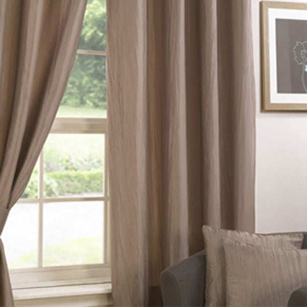Natural Crushed Taffeta Curtain Collection