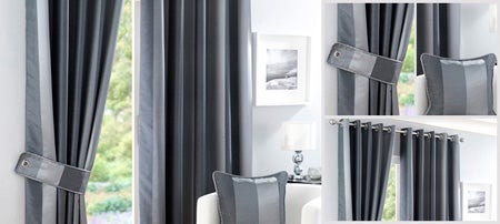 Pewter Monaco Curtain Collection