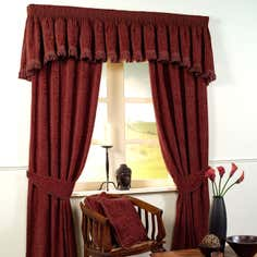 Ruby Vivaldi Jacquard Lined Curtain Collection