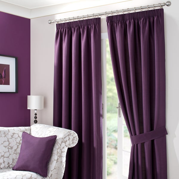 Blackcurrant Sorrento Curtain Collection