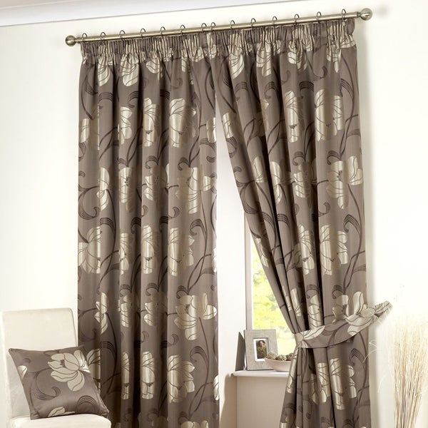 Chocolate Monroe Curtain Collection