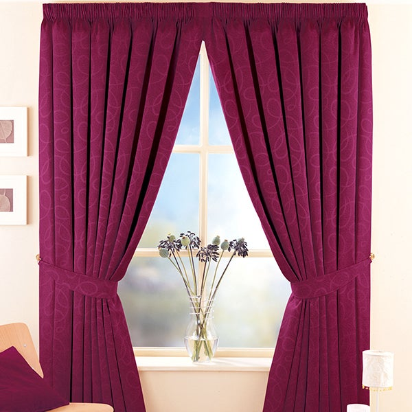 Claret Toledo Curtain Collection