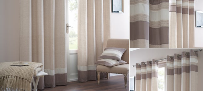 Natural Alban Curtain Collection