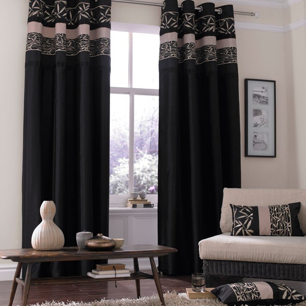 Black Bamboo Curtain Collection