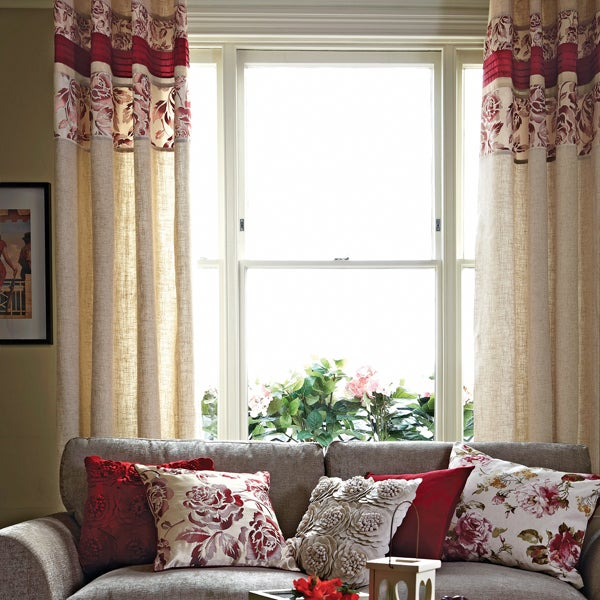 Red Emily Curtain Collection