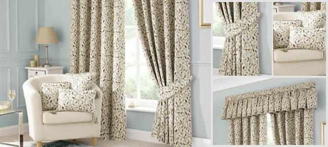 Heritage Teal Glava Curtain Collection