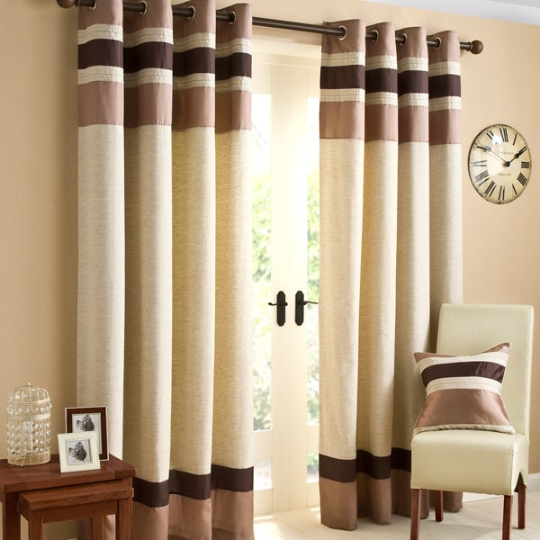 Chocolate Alban Curtain Collection