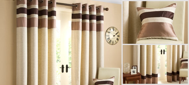 Chocolate Alban Curtain Collection Dunelm