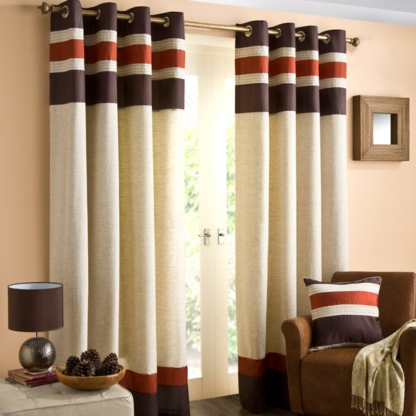 Terracotta Alban Curtain Collection