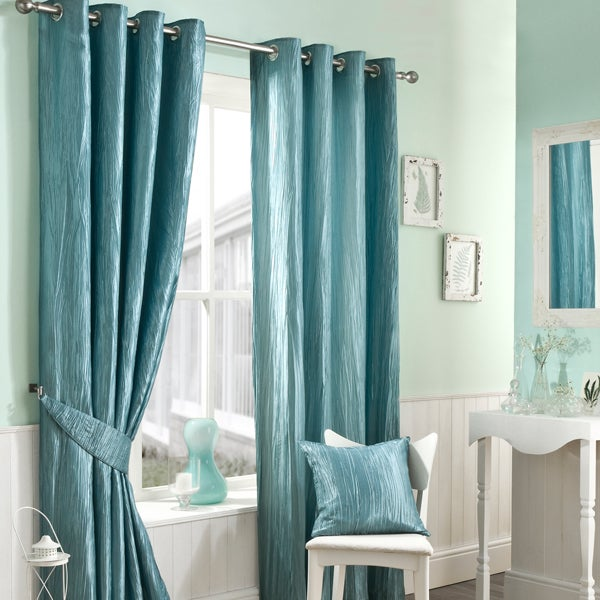Duck Egg Crushed Taffetta Curtain Collection