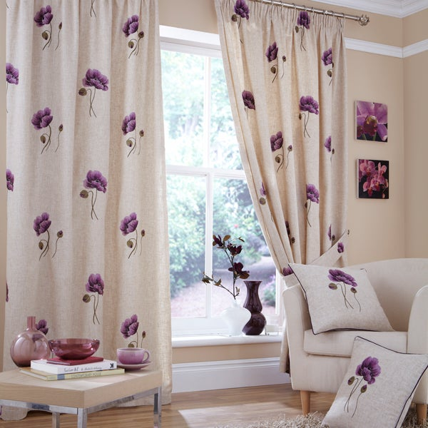 Plum Vintage Curtain Collection