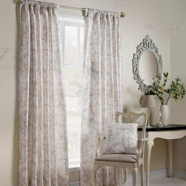 Natural Bordeaux Curtain Collection
