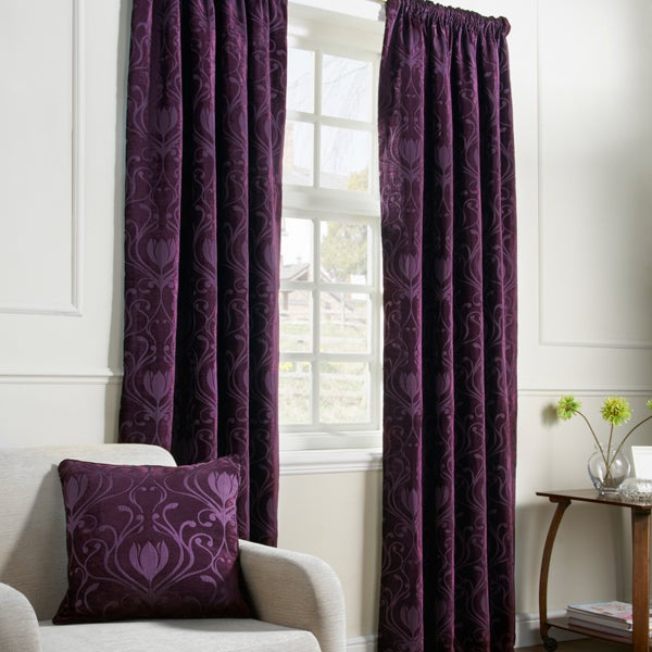 Aubergine Deco Curtain Collection