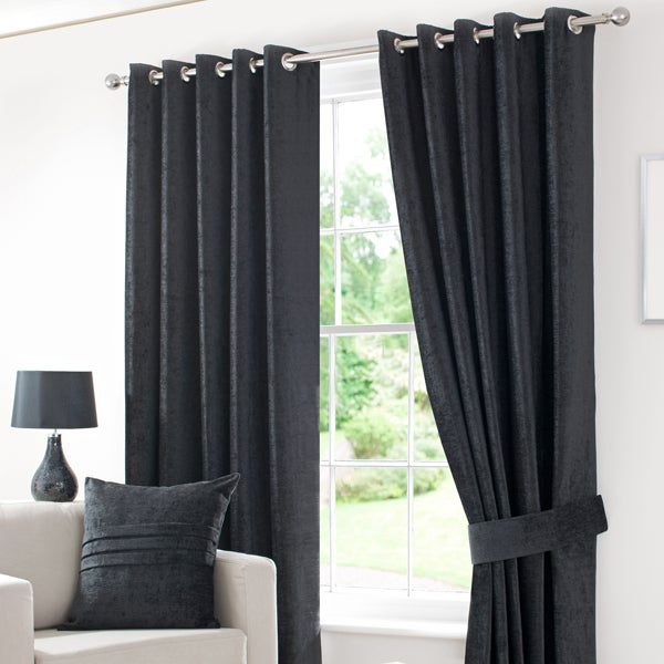 Black Chenille Curtain Collection