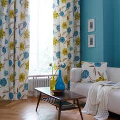 Teal Freya Curtain Collection