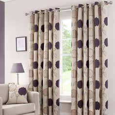 Plum Louisa Curtain Collection