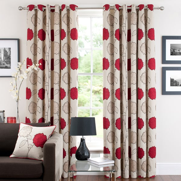 Red Louisa Curtain Collection