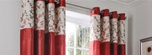 Red Woodland Sprig Curtain Collection