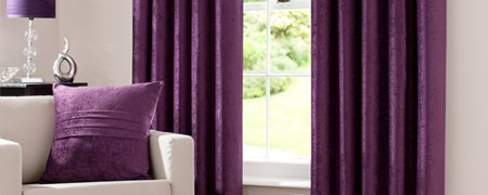 Plum Chenille Curtain Collection