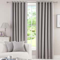 Waters and Noble Grey Herringbone Blackout Curtain Collection