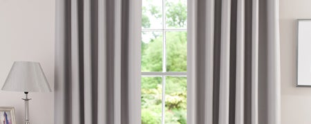 Waters And Noble Grey Herringbone Blackout Curtain Collection Dunelm