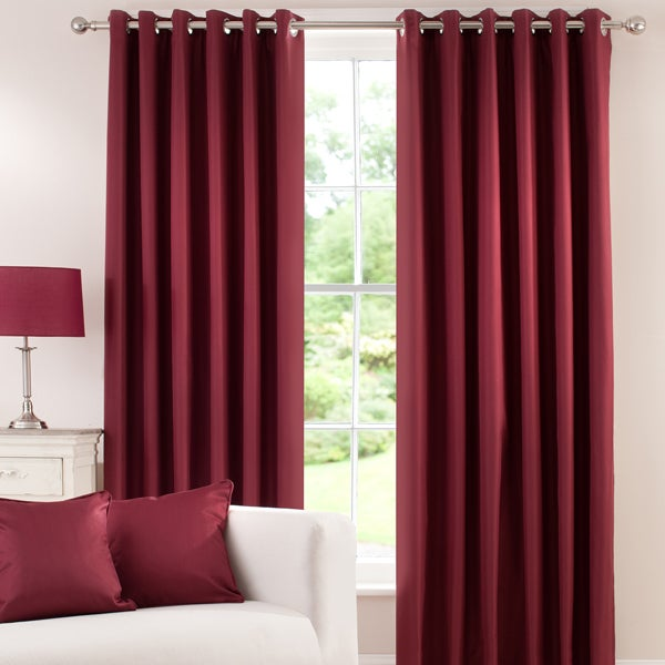 Waters and Noble Wine Herringbone Blackout Curtain Collection