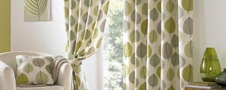 Green Regan Eyelet Curtain Collection Dunelm