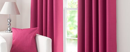 Waters and Noble Fuchsia Solar Eyelet Curtain Collection